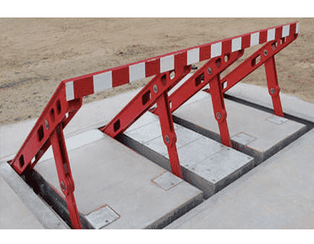 Model 828 Shallow Mount Wedge Barrier