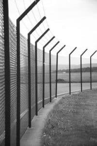 Passive barriers have no moving parts, like a fence.
