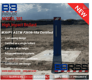 BBRSS high-impact bollard for security