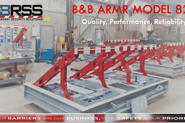 BBRSS vehicle wedge barrier for maximum security