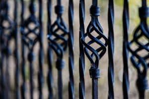 Iron gate railings